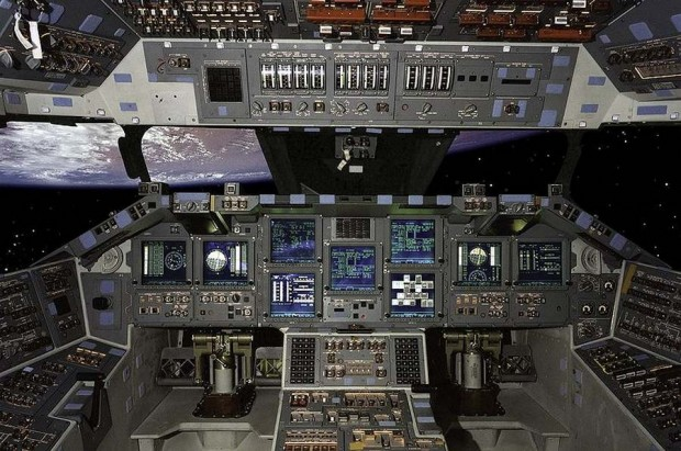 Space shuttle Atlantis cockpit