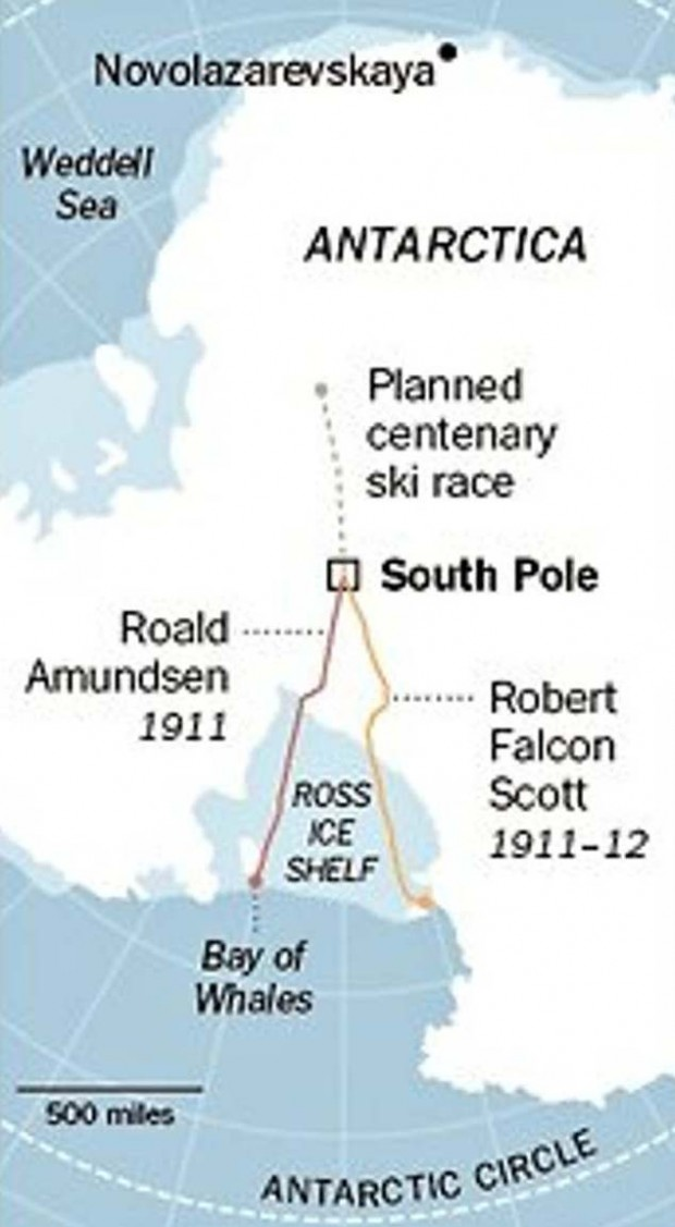 Antarctica map of South Pole