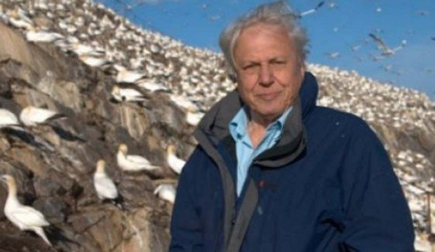 Sir David Attenborough in Galapagos