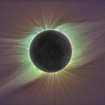 Solar corona in total eclipse