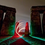 Stonehenge in light-painting