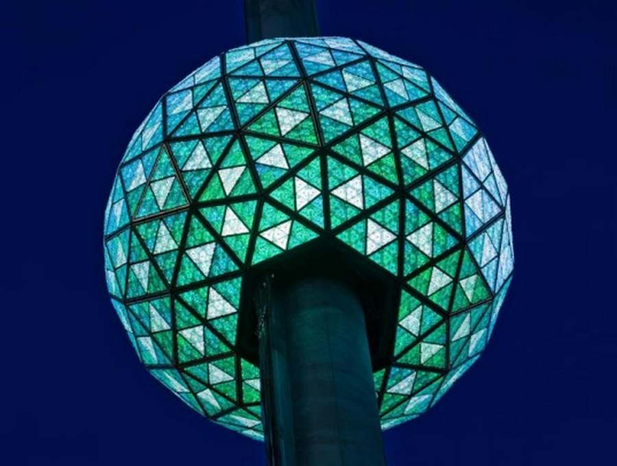 Times Square New Years eve Green ball