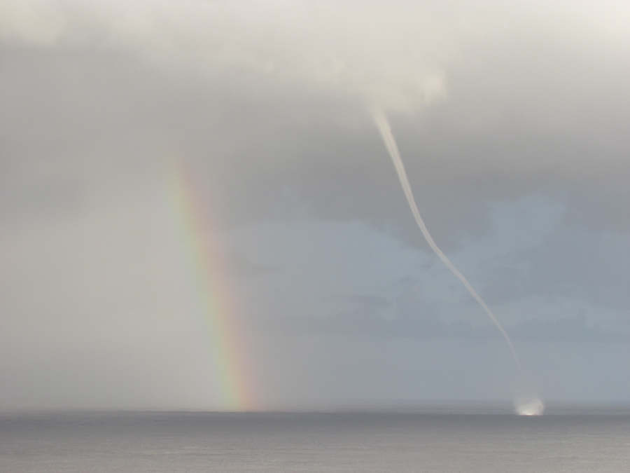 Waterspout and Rainbow
