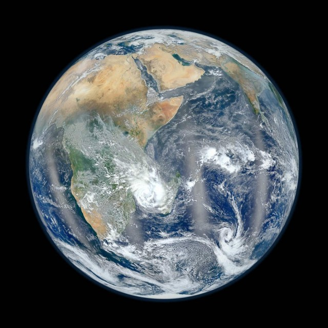 Blue Marble image of the Earth taken from the VIIRS