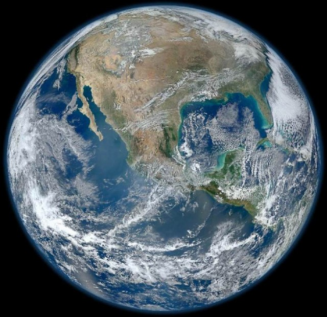Earth from VIIRS instrument aboard NASA's Earth-observing satellite - Suomi NPP