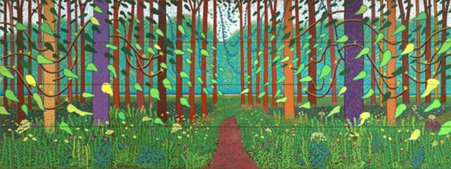 'The Arrival Of Spring', 2011 by David Hockney