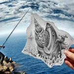 Drawing and photography by Ben Heine