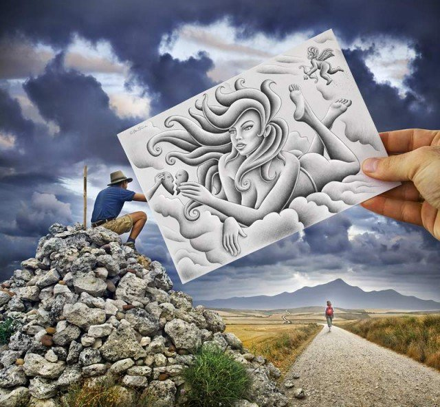 Magnificent drawings by Ben Heine (1)
