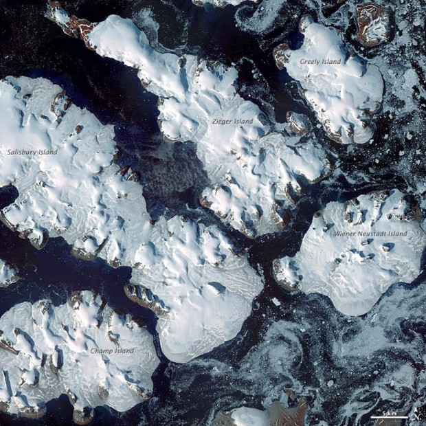 Franz Josef Land from Terra satellite