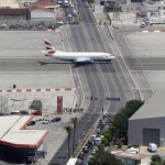 Gibraltar Airport- where planes meet cars