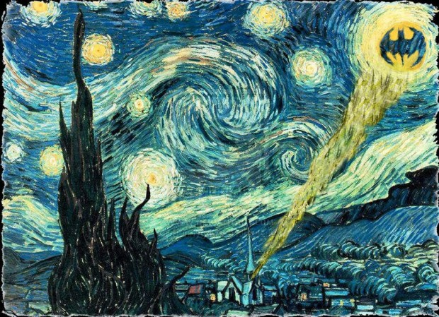 Gotham Starry Night- Van Gogh