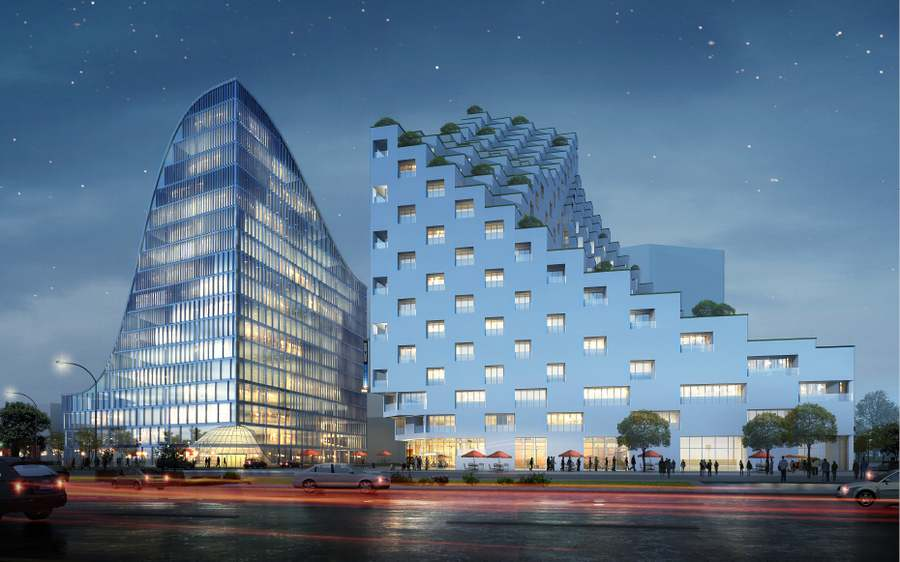 Hangzhou Waves luxury hotel and office complex