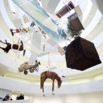 Installation of Maurizio Cattelan: All at the Guggenhei...