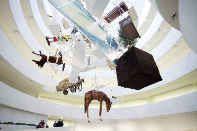 All at the Guggenheim by Maurizio Cattelan