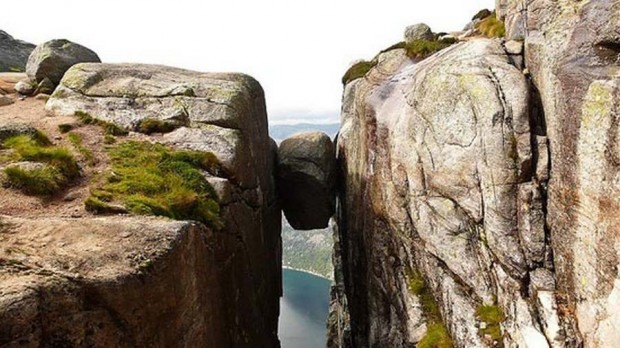 Kjeragbolten boulder in Norway