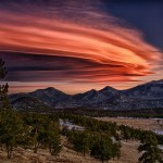 Lenticular display over the Rocky Mountains