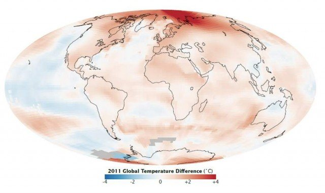 Ninth-Warmest year on record