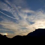 Sundog and bright tail over Trento