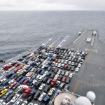 Supercarrier's deck packed with Cars