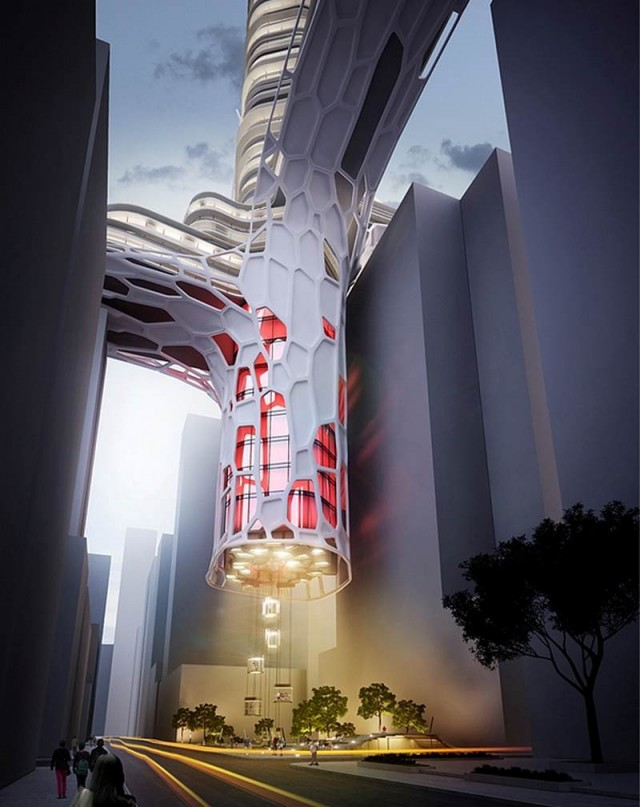 Suspended Night Club in Hong Kong