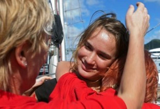 Laura Dekker the youngest person ever to sail alone around the globe