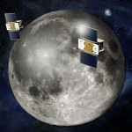 Twin GRAIL spacecraft orbiting the Moon