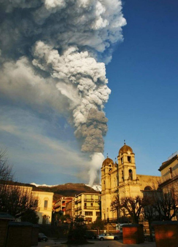 Volcano Etna from Zafferana in Sicily