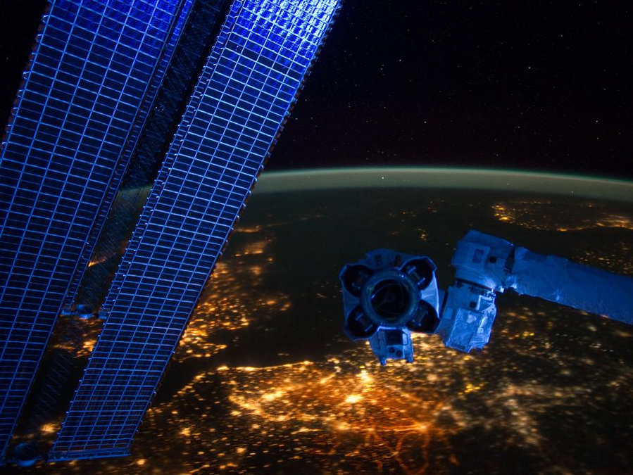 Western Europe from ISS at night
