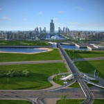 World's tallest building in Khazar artificial islands