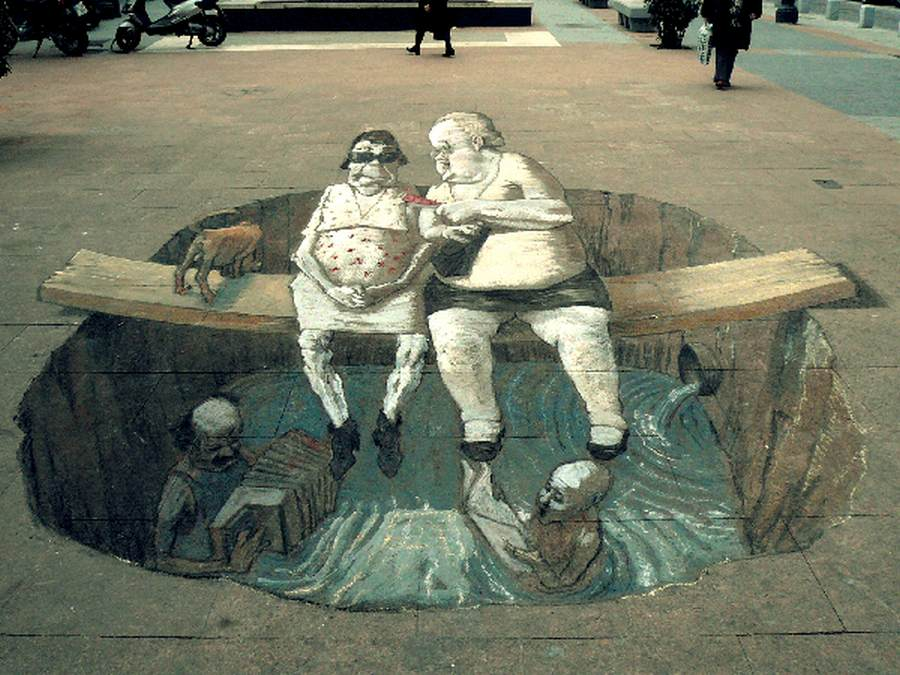 3d street art illusions by eduardo rolero wordlesstech for 3d sculpture artists