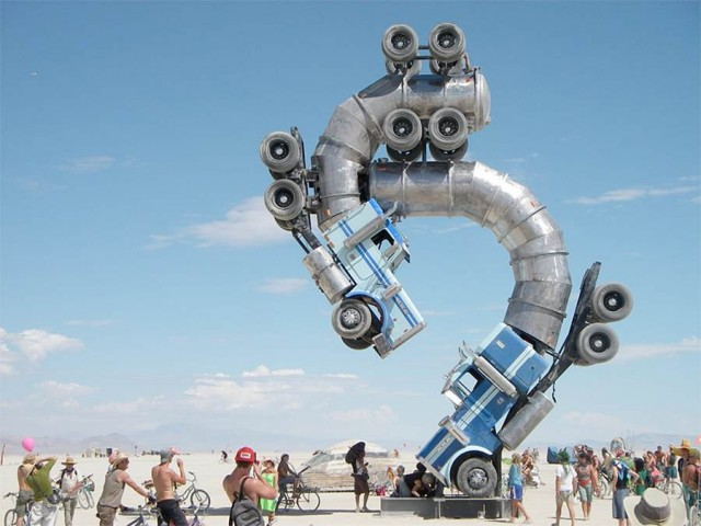 Big Rig Jig- sculpture by Mike Ross