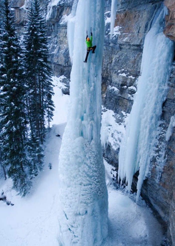 Climbing on the Fang, in Vail in Fairplay