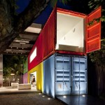 Colorful container residence in Brazil