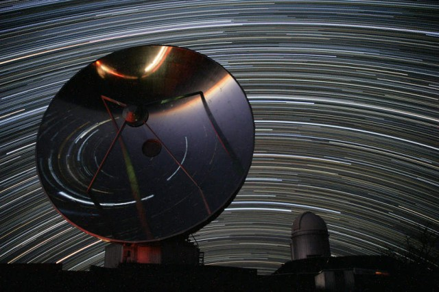 La Silla Observatory in the Atacama desert, Star Trails