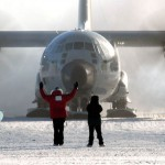 Last Flight from South Pole station