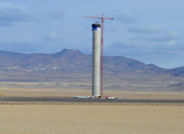 Crescent Dunes Solar Energy Project by SolarReserve in Nevada