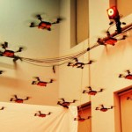 Quadrotors in 3D formations (video)