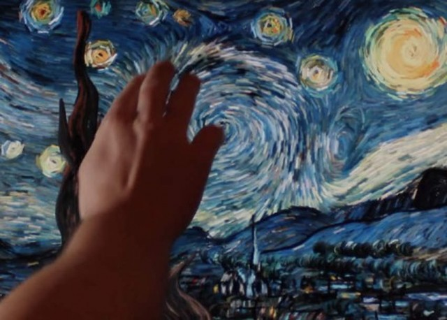 Starry Night Starry of Vincent Van Gogh interactive animation