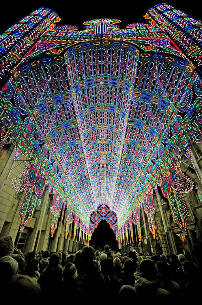Cathedral Art Installation at Ghent Light Festival