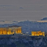 Acropolis, when the night falls