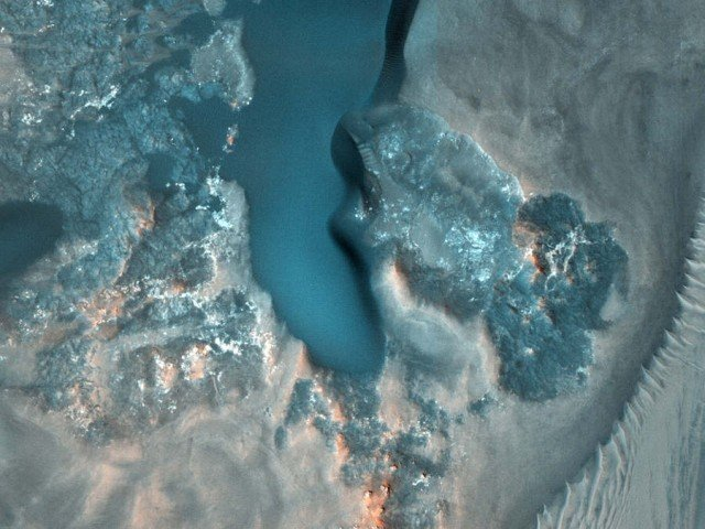 Crater with Gullies on Mars