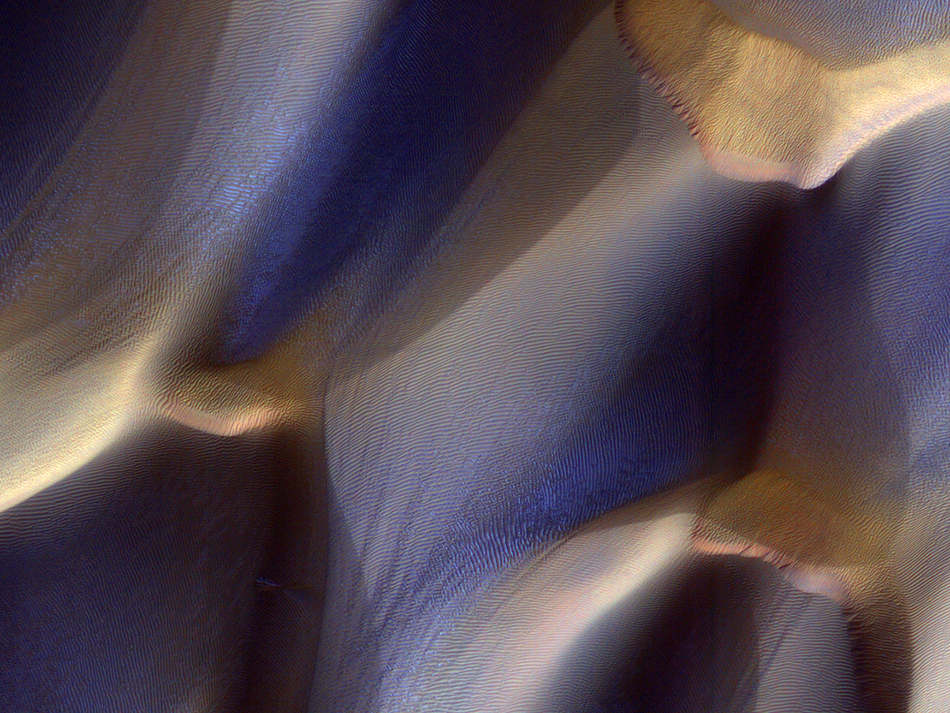 Dunes in Aonia Terra on Mars