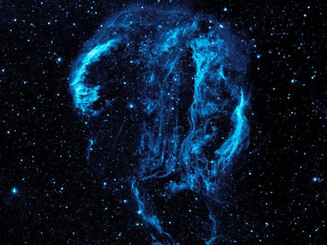 Cygnus Loop Nebula, visible here in ultraviolet light