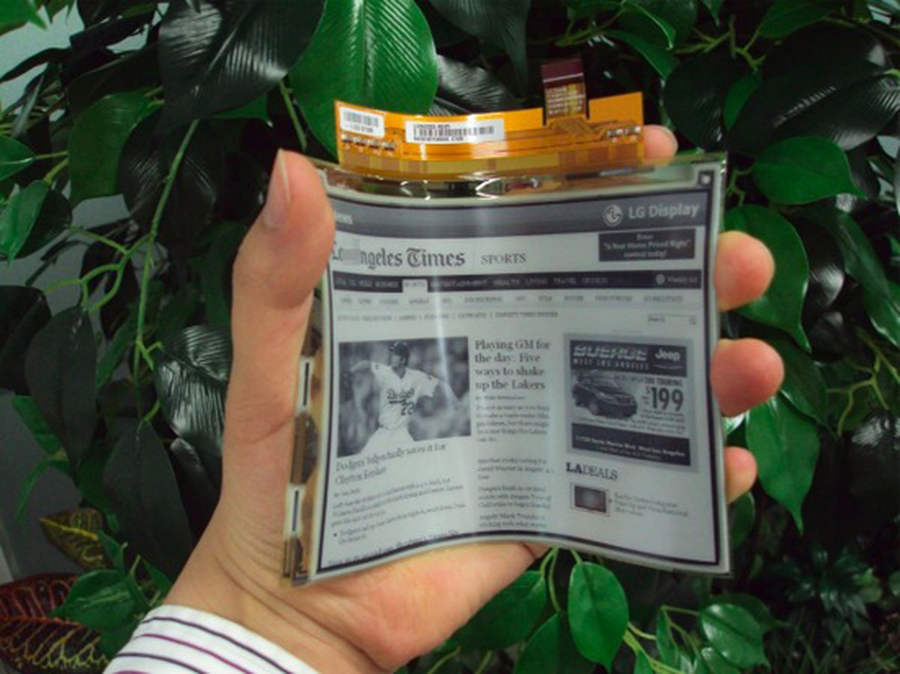 Flexible display will appear next month by LG