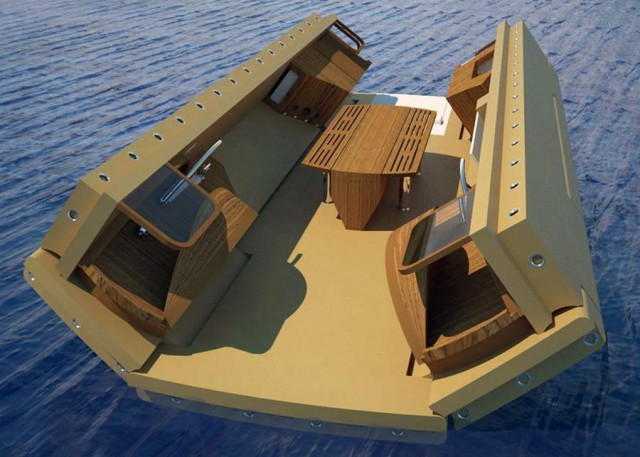 Folding recreational island by Henry Ward (5)