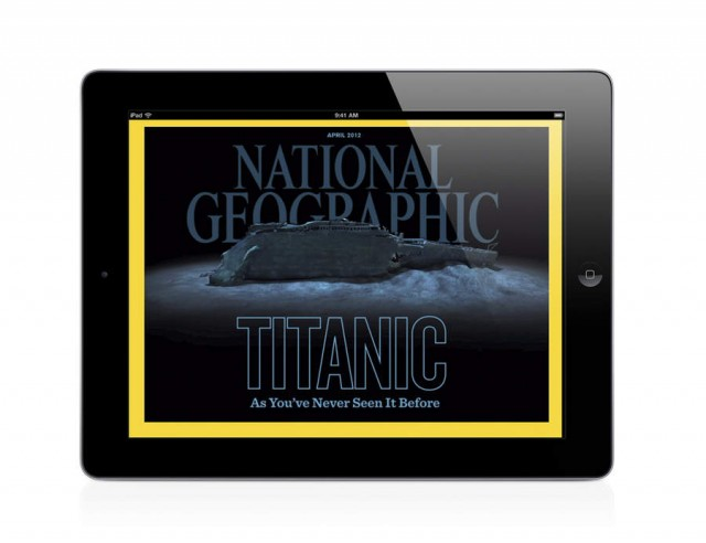 April edition of National Geographic magazine for iPad