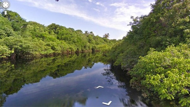 Google Street View takes you to the Amazon