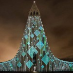 Icelandic church light projections (video) updated