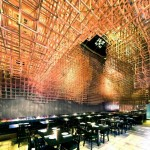 Innuendo Restaurant Ceiling by Bluarch Studio