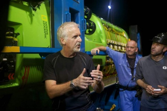 "James Cameron will dive to the Mariana Trench's lowest point, the ""Challenger Deep"""